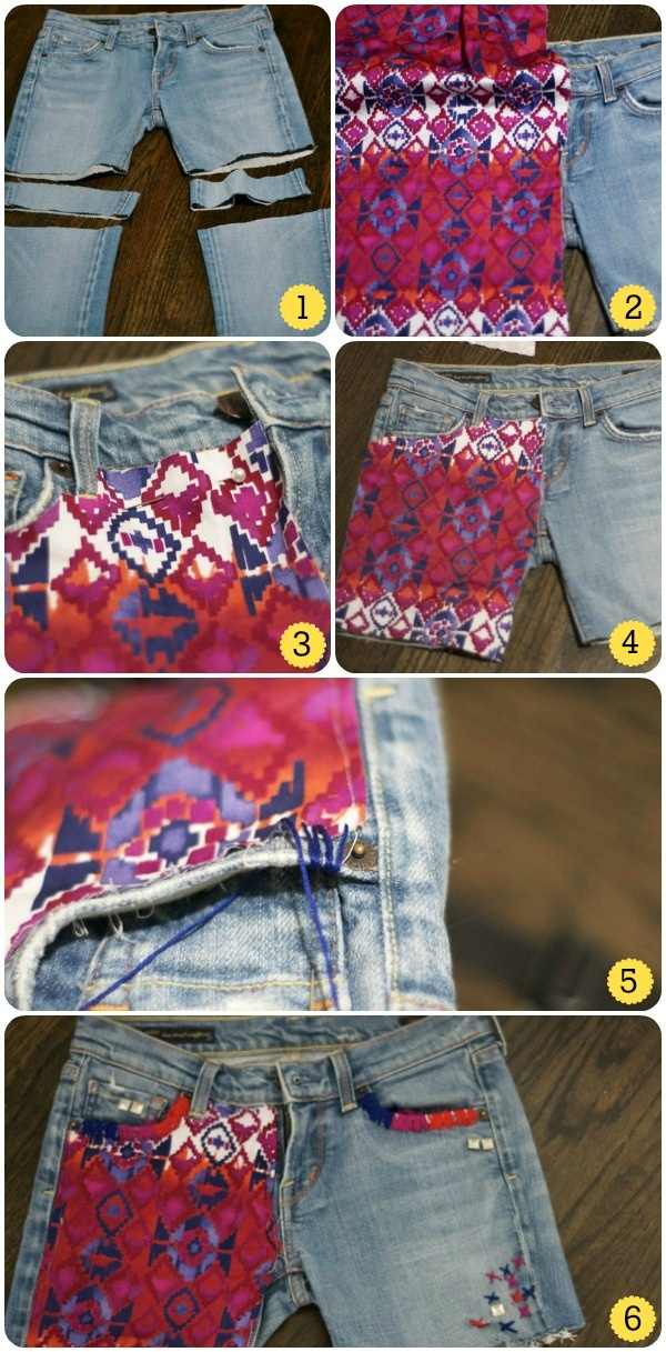 Make Shorts from Old Jeans - DIY
