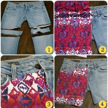 Make Shorts from Old Jeans – DIY