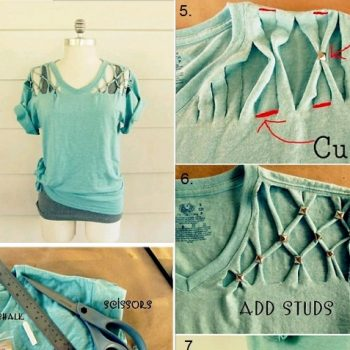 Studded T-shirt – DIY (2)