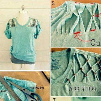 Studded T-shirt – DIY (2)