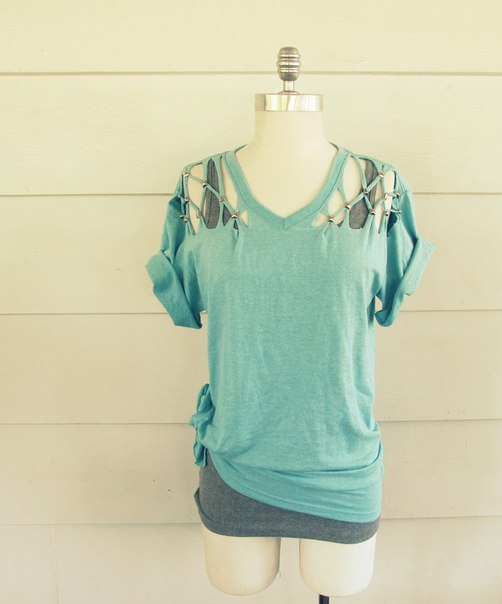 make a studded t-shirt - diy