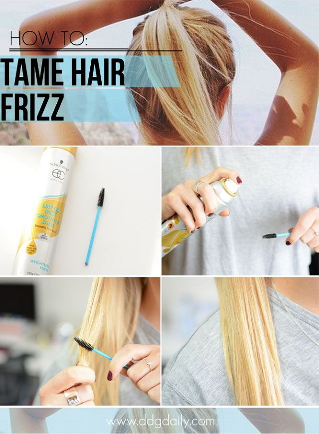Use a Mascara Wand to Fight Hair Frizz