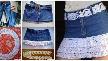 crochet-denim-skirt