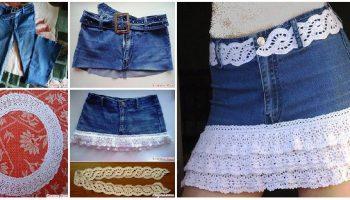 crochet-denim-skirt
