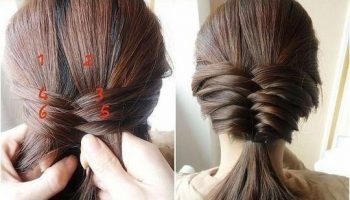 Cute Fishtail Braided Hairstyle Tutorial