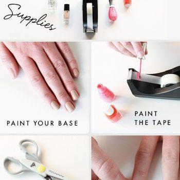 Easy Way to Make Zigzag Nail Design