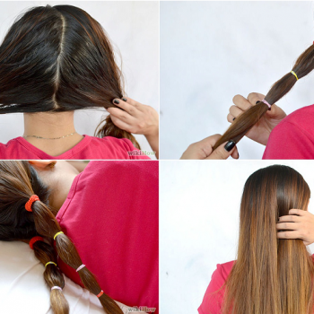 Hair Bands Straightening Technique