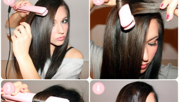 How to Curl Your Hair with a Hair Straightener (2)