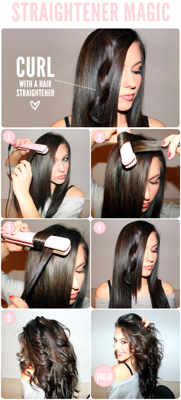 How to Curl Your Hair with a Hair Straightener