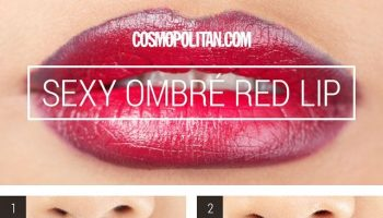 How to Make Seductive Red Ombre Lips