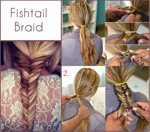 How to Make a Fishtail Braid - AllDayChic Fishtail Braid How To