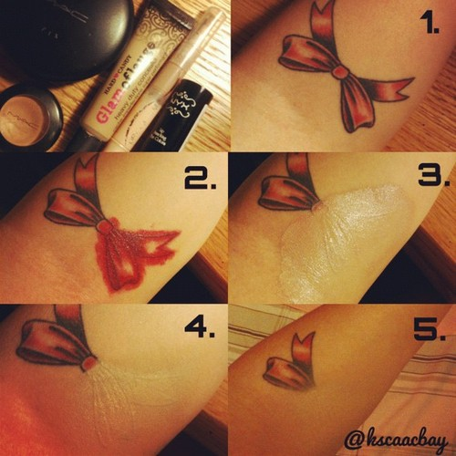 how to perfectly cover a tattoo alldaychic ForHow To Cover Tattoos