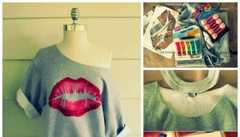 Kiss Me Lip Sweatshirt – DIY