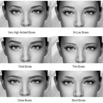 Same Face – Different Eyebrows