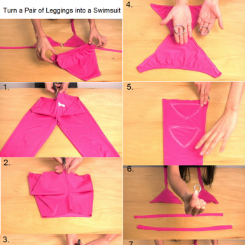 Turn a Pair of Leggings into a Swimsuit
