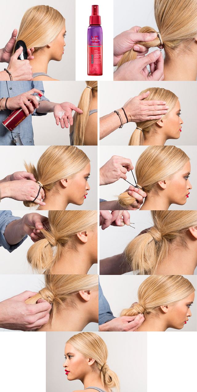 How To Make A Cute And Messy Loop Bun Alldaychic