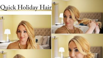 quick holiday hairstyle