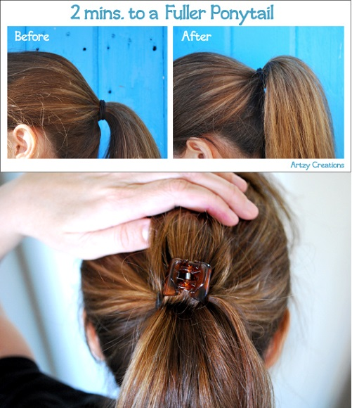 volume to ponytail