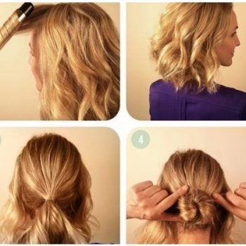 Braided Bun Tutorial for Short Hair (2)