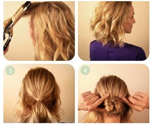 braided bun tutorial for short hair alldaychic