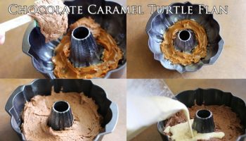 Delicious Chocolate Caramel Turtle Flan Recipe