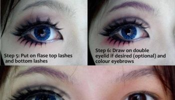 Fake Lashes Makeup Tutorial for Big Eyes