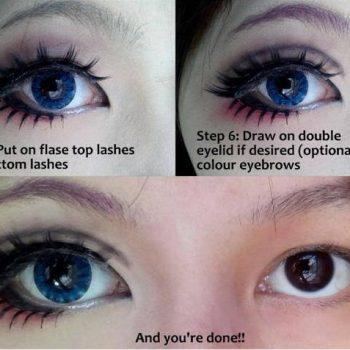 Fake Lashes Makeup Tutorial for Big Eyes