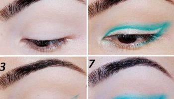 Gorgeous Blue Winged Eye Makeup Tutorial (2)