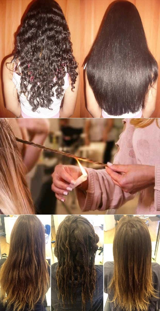 Interesting Way to Remove Split Ends by Burning Them