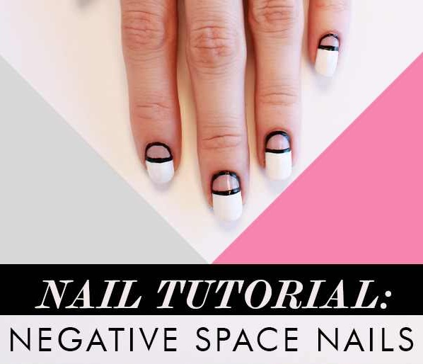 Negative Space Nails Tutorial - DIY