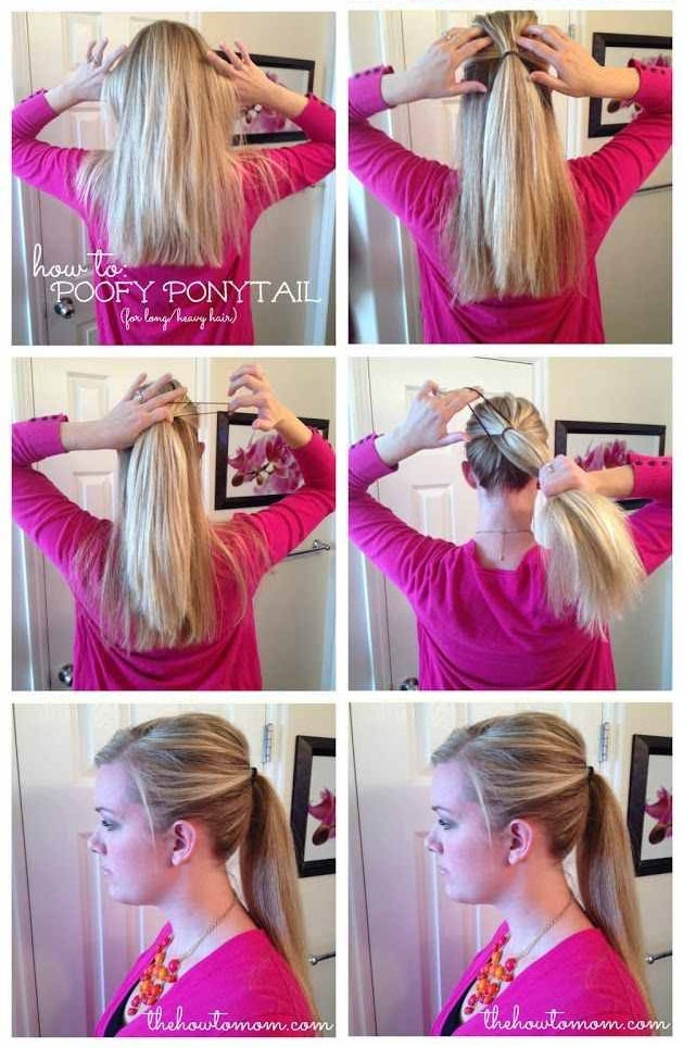 How to Make a Poofy Ponytail