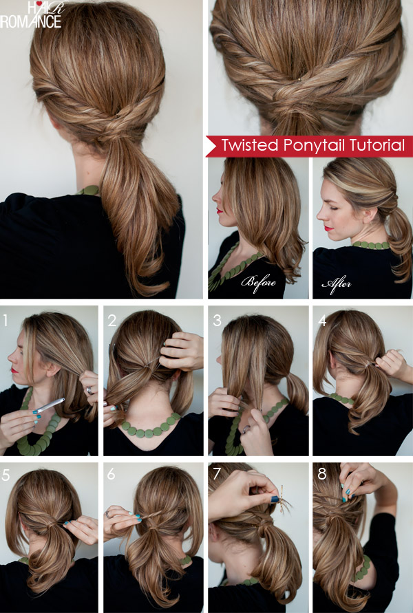 Quick Twisted Ponytail Hairstyle Alldaychic