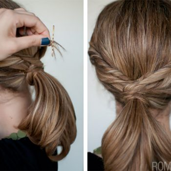 Quick Twisted Ponytail Hairstyle