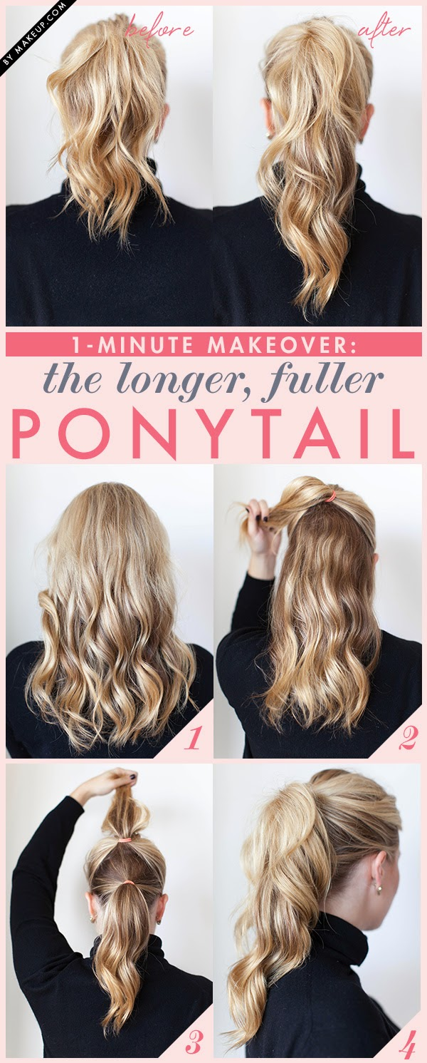 Trick to Make Your Ponytail Look Longer