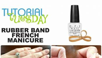 Make a French Manicure With Rubber Band