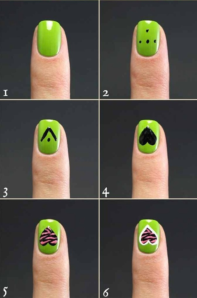 heart-zebra-nail-art