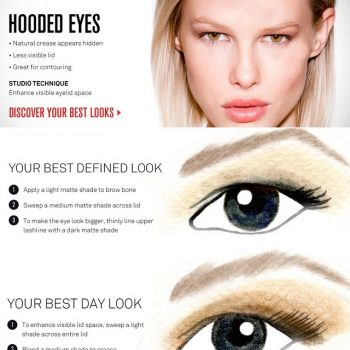 hooded eyes