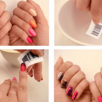 Bar-Coded Nail Art – DIY