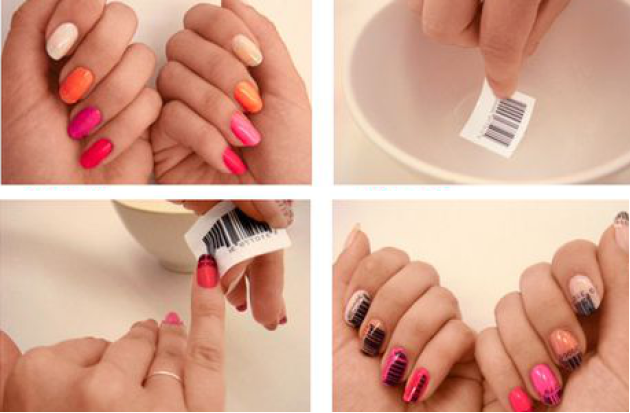 Bar-Coded Nail Art - DIY - Bar-Coded Nail Art - DIY - AllDayChic