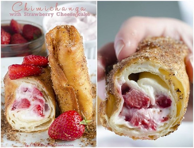 Chimichangas With Strawberry Cheesecake - DIY Recipe