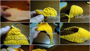 DIY-Pretty-Crochet-Home-Slippers