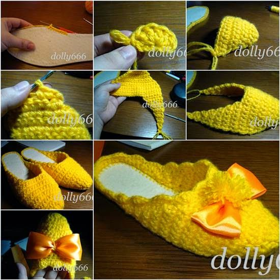 DIY-Pretty-Crochet-Home-Slippers