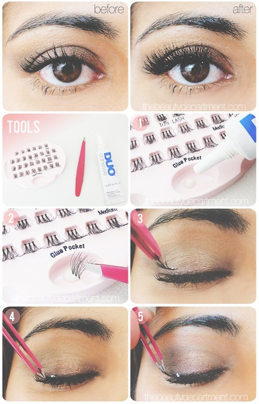 Different Styles Of False Lashes And How To Apply Them Alldaychic