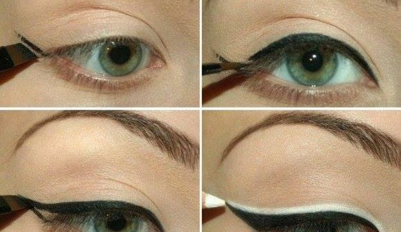 double eyeliner makeup tutorial alldaychic. Black Bedroom Furniture Sets. Home Design Ideas