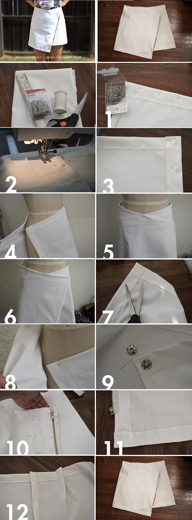 Easy to Make Envelope Wrap Skirt - DIY (2)