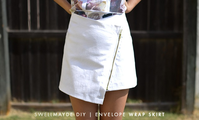 Easy to Make Envelope Wrap Skirt - DIY