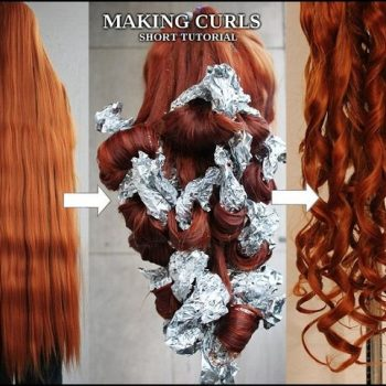 How To Curl Hair Just With Foil And Hot Water