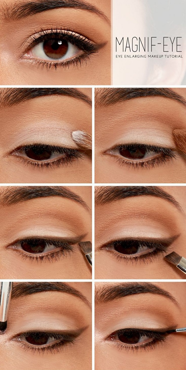 makeup tutorial to enlarge your eyes - alldaychic