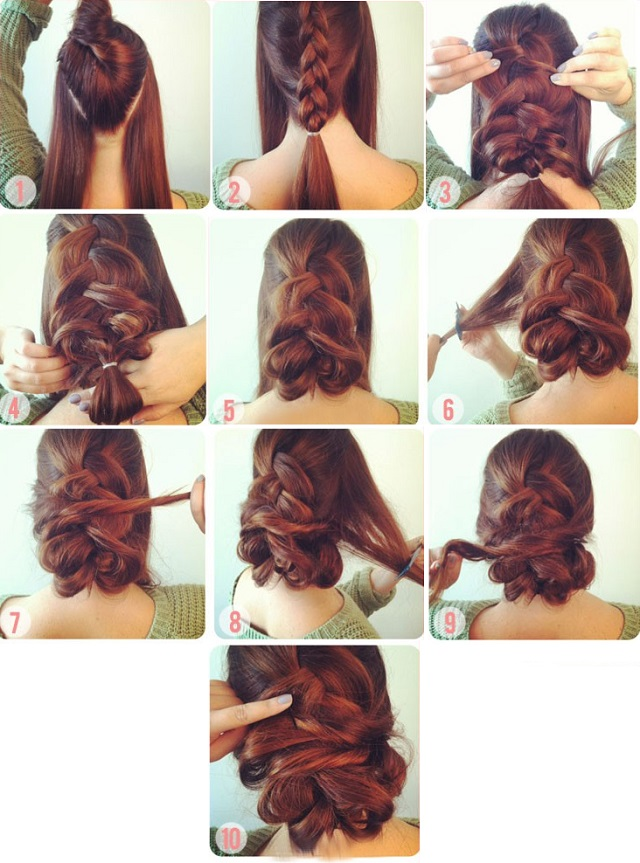 Special and Elegant Braided Hairstyle