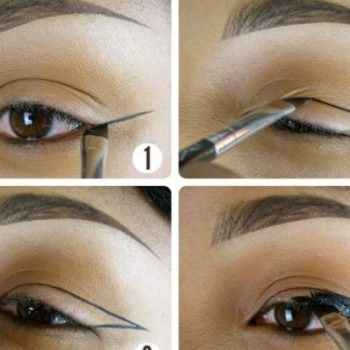 Strong Winged Eyeliner Tutorial (2)